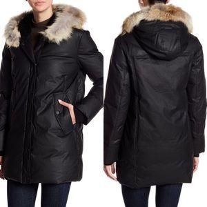 Detachable Genuine Coyote Fur Trim Down Jacket